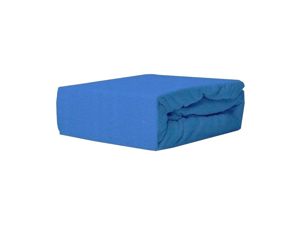 EmaHome - Froté prostěradlo 160x200 cm modrá 309