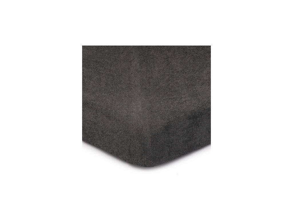 EmaHome - Froté prostěradlo 160x200 cm tmavě šedá 301