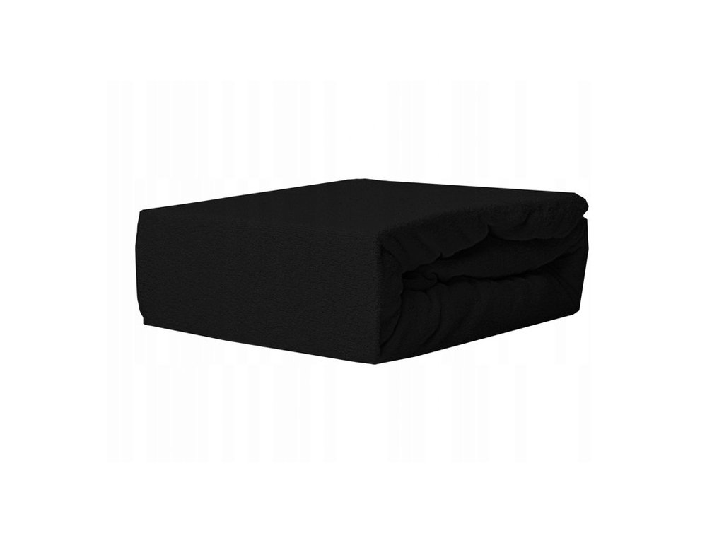 EmaHome - Froté prostěradlo 180x200 cm černá 304