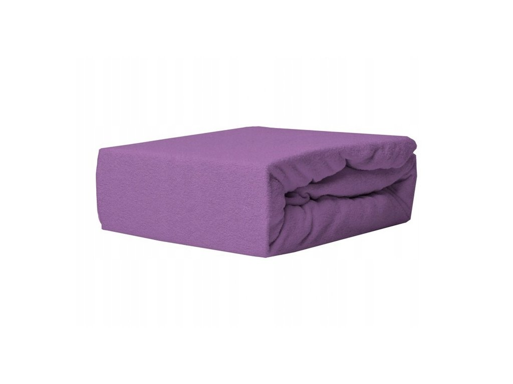 EmaHome - Froté prostěradlo 180x200 cm fialová 316