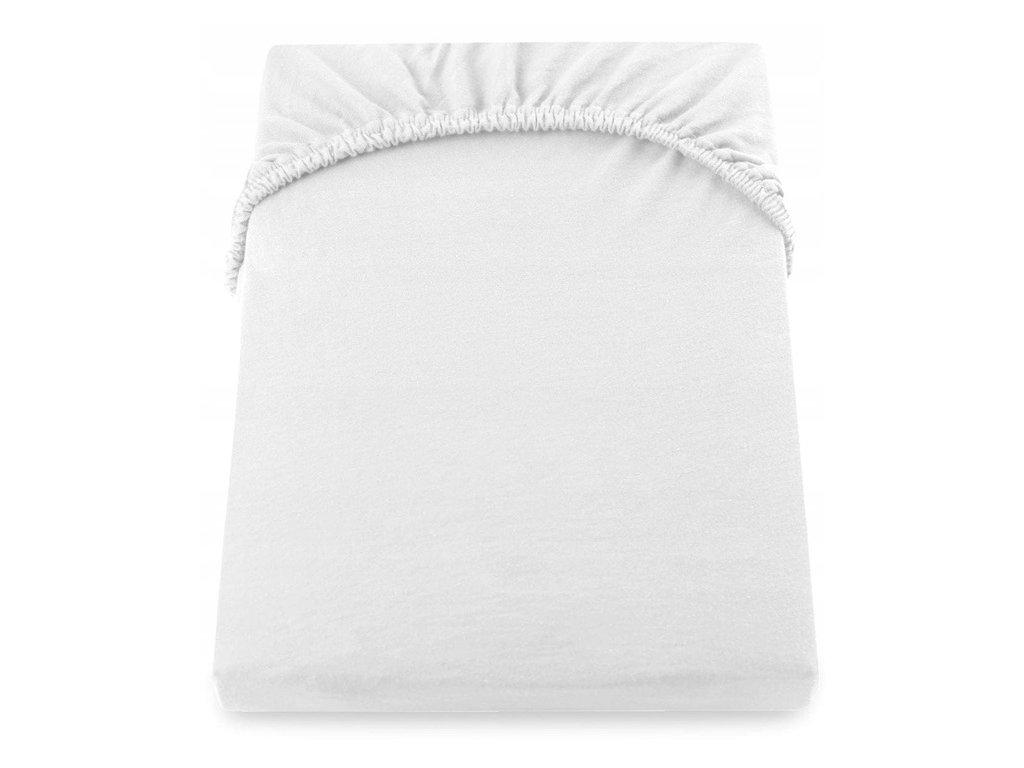 EmaHome - Jersey prostěradlo 160x200 cm bílá 101
