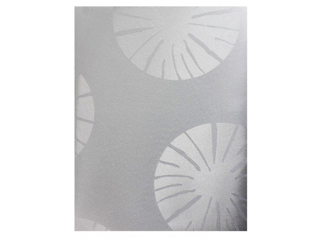 EmaHome - Ubrus kulatý s ochranou proti skvrnám 140 cm / bílá se vzorem
