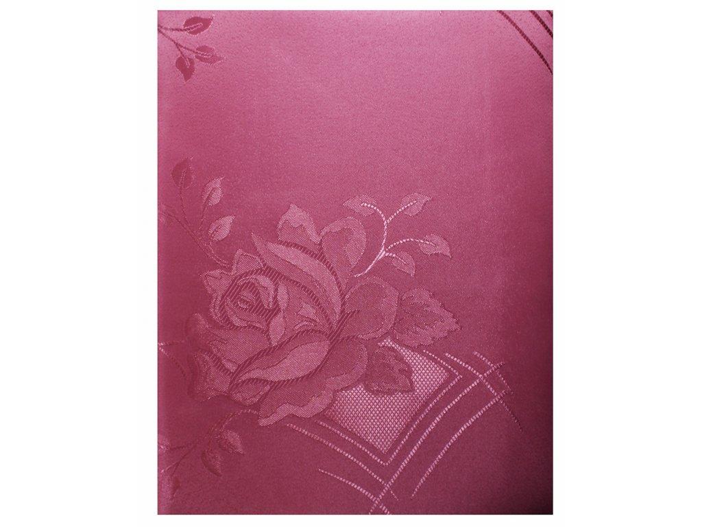 EmaHome - Ubrus kulatý s ochranou proti skvrnám 140 cm / růžový se vzorem
