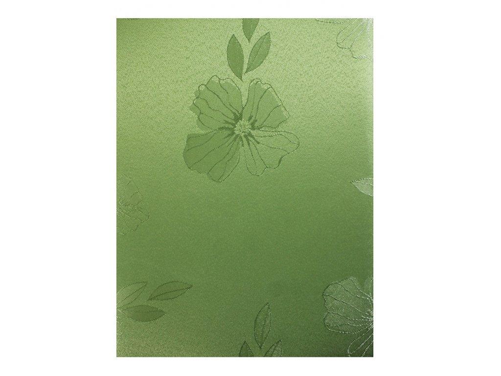 EmaHome - Ubrus kulatý s ochranou proti skvrnám 140 cm / zelená se vzorem