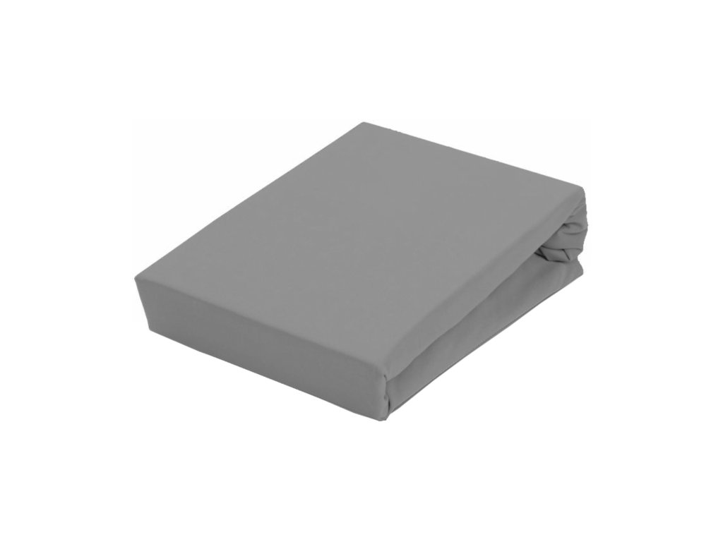 EmaHome - Prostěradlo Piruu Jersey 180x200 cm - Tmavě šedá 301