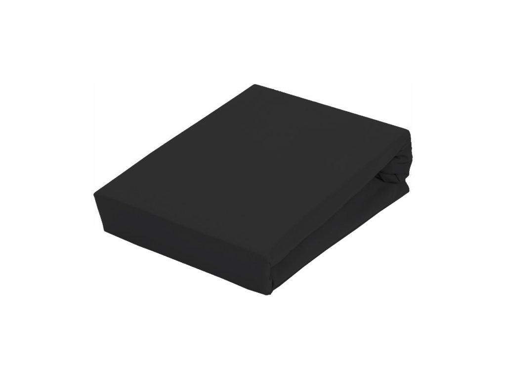 EmaHome - Prostěradlo Piruu Jersey 90x200 cm - Černá 304