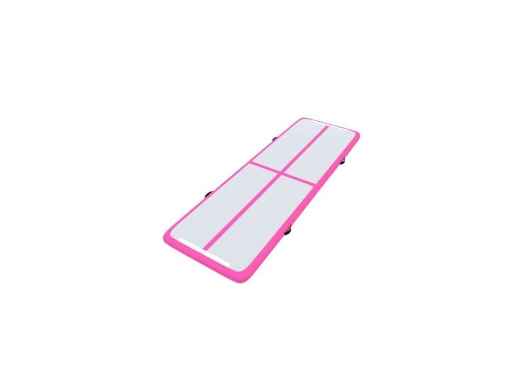 Gymnastická podložka DMS AT-510 Airtrack / 500 x 100 x 10 cm / růžová