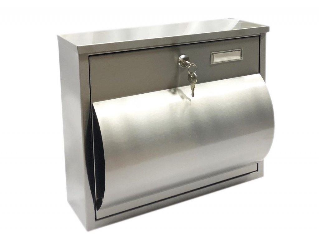 Poštovní schránka z nerezové oceli - 30,5x36,5x15,5 cm