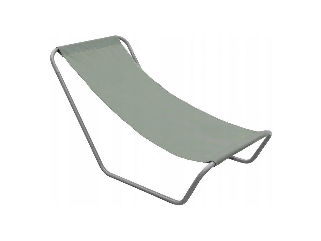 Zahradní lehátko 490295 / relaxační křeslo / šedé