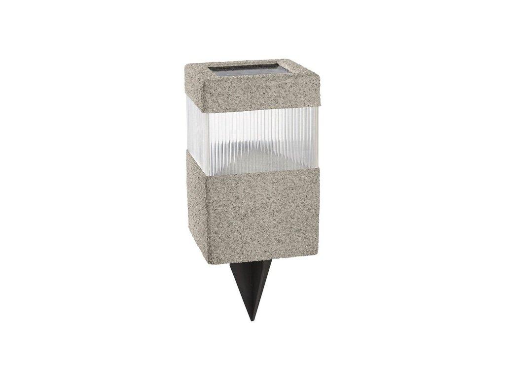 LED solární světlo / venkovní osvětlení / bílá / 10 x 10 x 23,5 cm / hranatý tvar