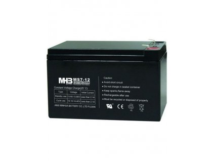 13307 pb akumulator mhb vrla agm 12v 7ah ms7 12 faston 6 3 mm