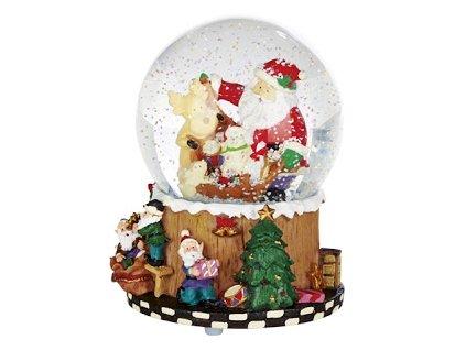 EmaHome - Hudební sněhová koule Merry Christmas