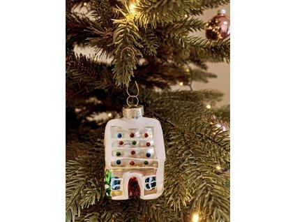 EmaHome vánoční ozdoba / skleněná / chaloupka