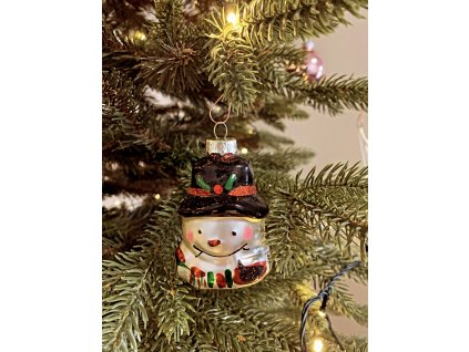 EmaHome vánoční ozdoba / skleněná / sněhulák