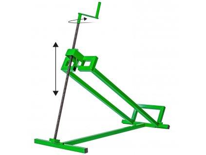 MASKO® Zdvihací zařízení sekačky na trávu 400 kg - zelená