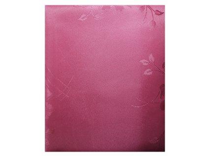 EmaHome - Ubrus s ochranou proti skvrnám 80x80 cm / růžový se vzorem