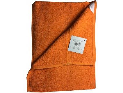 Ručník 50x100 cm bavlna / oranžový