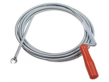 Protahovací pero / hřídel na čištění potrubí s drápem 5m
