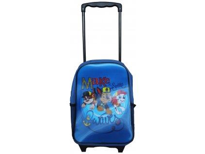 Dětský batoh na kolečkách 3D Paw Patrol / modrá