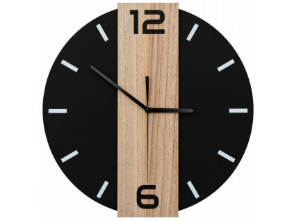 Nástěnné hodiny 35 x 35 cm - černé