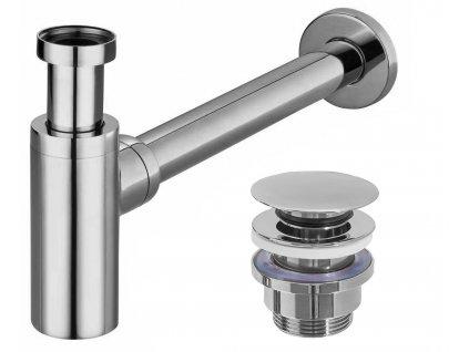 Univerzální umyvadlový sifon s výpustí klik-klak REA-A5693 - CHROM
