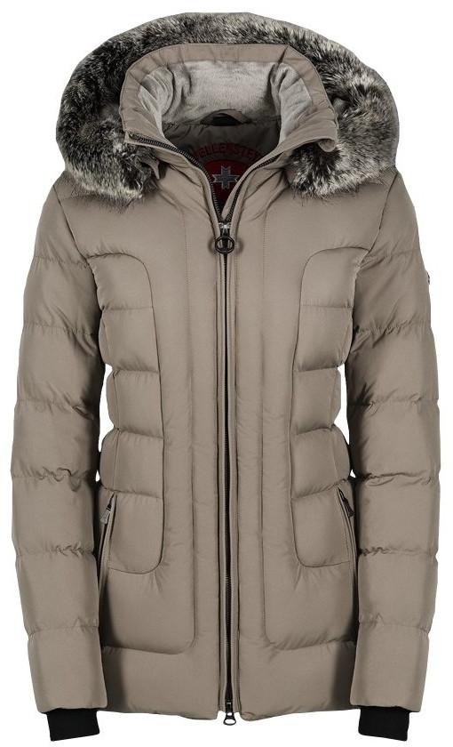 Luxusná dámska zimná sivá bunda s kapucňou a kožušinou Wellensteyn Belvitesse Medium