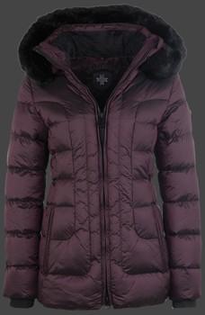 Luxusná dámska zimná fialová bunda s kapucňou a kožušinou Wellensteyn Belvitesse Medium
