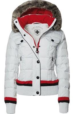 Biela prešívaná dámska bunda Wellensteyn Snowflake, páperová krátka