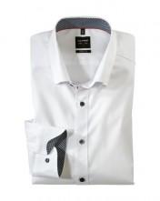Biela super slim fit pánska košeľa Olymp Level 5 do športového obleku