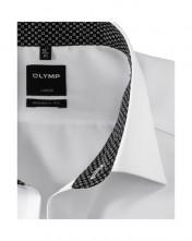 Biznis pánska biela košeľa s farebným golierom - Olymp Luxor