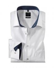 Biela biznis košeľa s dlhým rukávom do športového obleku - Olymp Luxor
