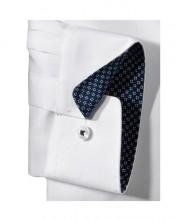 Biela pánska košeľa s modrým rukávom - Olymp Luxor