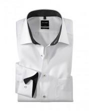 Biela luxusná košeľa pánska na biznis stretnutia, slim strih - Olymp Luxor