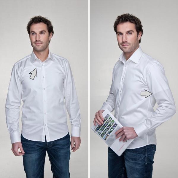 Biele tielko a tričko pod bielou košeľou