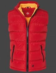 Červená zimná prešívaná vesta Wellensteyn Snowdome Vest Men