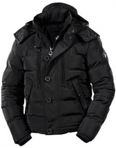 Čierna pánska bombera kapucňa