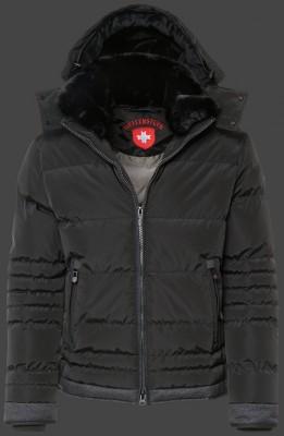 Prešívaná čierna bomber bunda na zimu Wellensteyn Panalpina Jacket