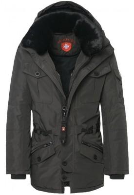 Čierna bunda Wellensteyn kožušina
