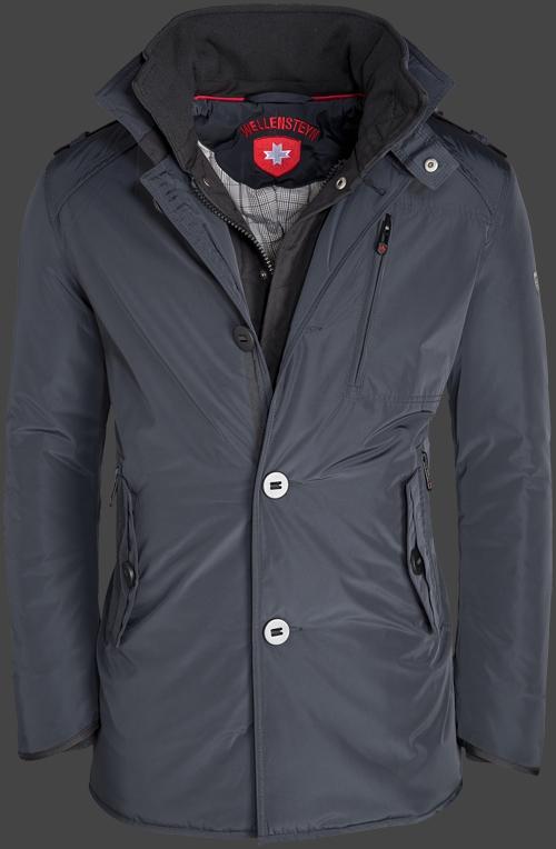 Tmavý modrý elegantný krátky kabát na zimu Wellensteyn Mercury