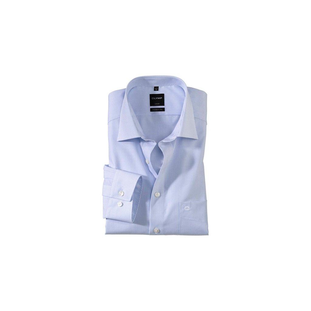 Svetlomodrá pánska košeľa Olymp s predĺženým rukávom