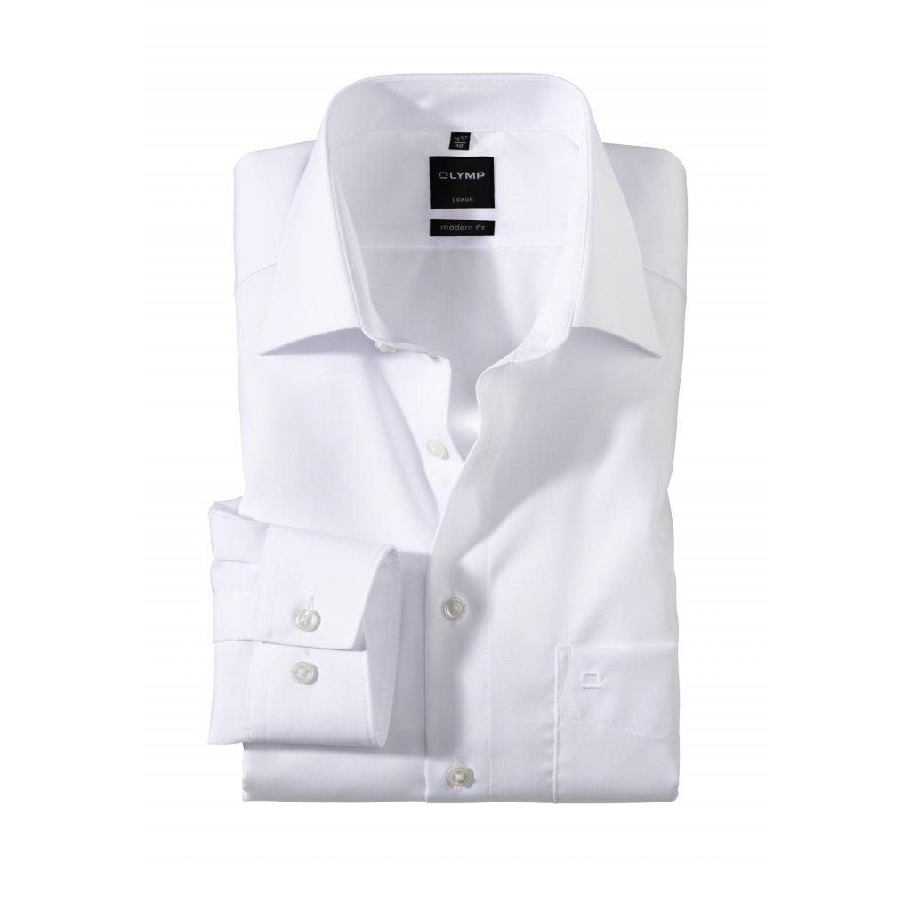 Biela košeľa na svadbu OLYMP, slim