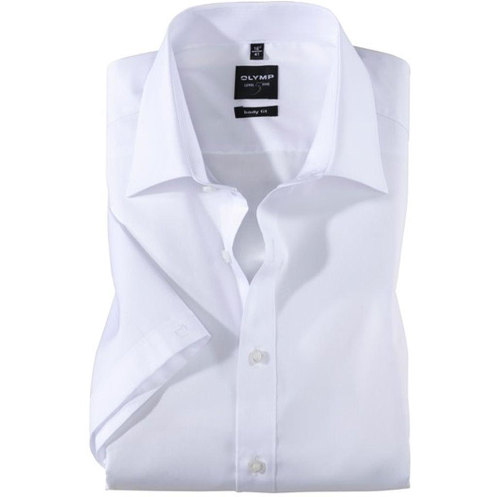 Biela pánska košeľa Olymp s krátkym rukávom