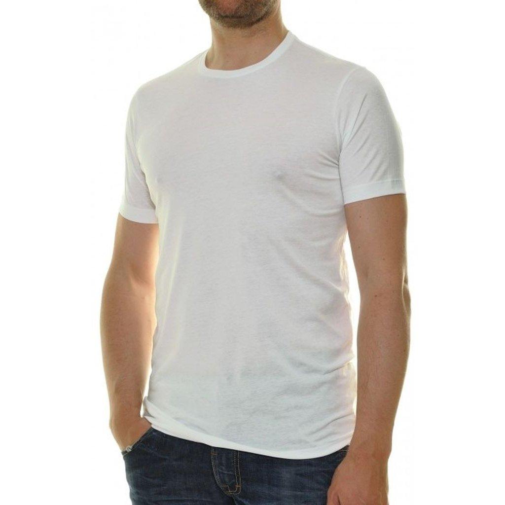 Biele pánske tričko pod košeľu RAGMAN Body Fit s krátkym rukávom (2ks)