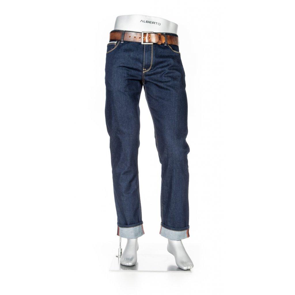 Päťvreckvové pánske džínsy na bicykel ALBERTO v zoštíhlenom strihu