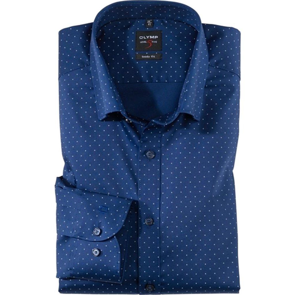 Modrá  košeľa OLYMP predĺžený rukáv