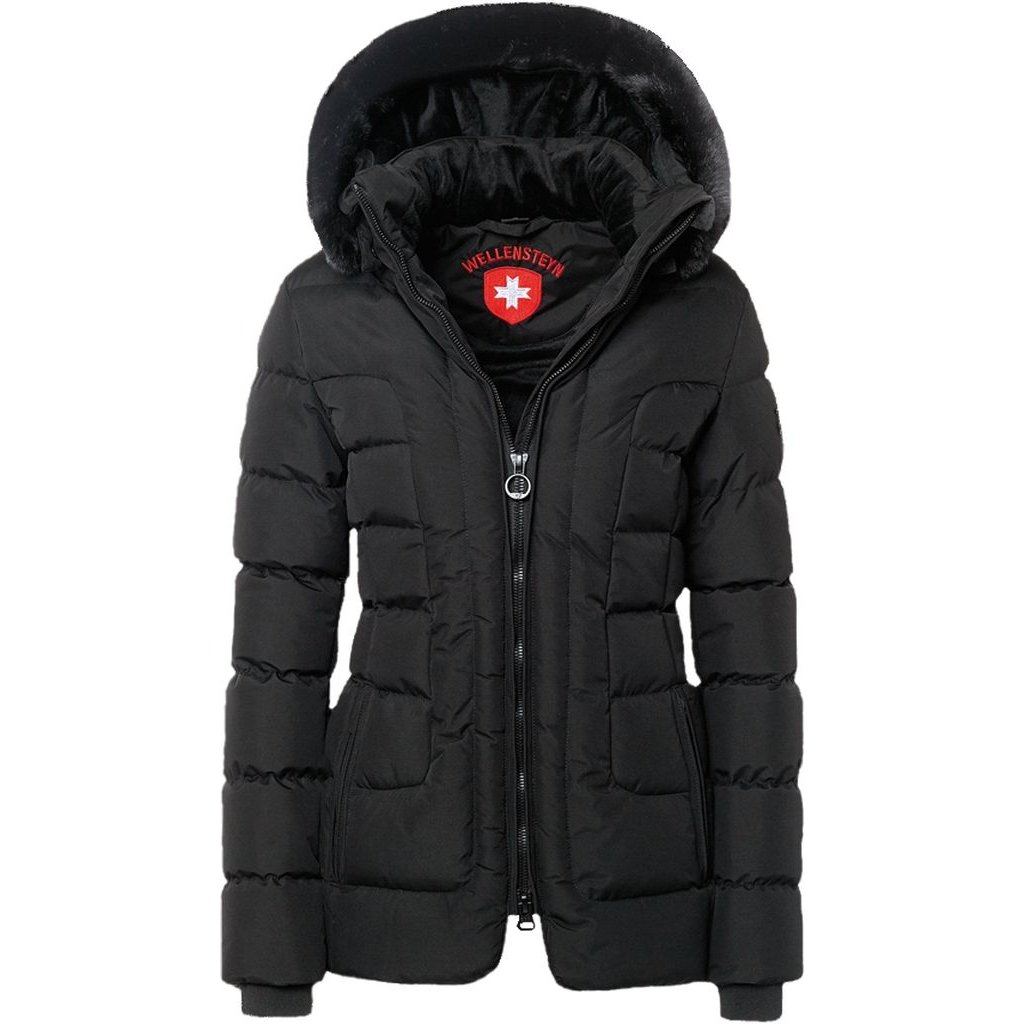 WELLENSTEYN Belvitesse Medium ľahká prešívaná dámska čierna zimná bunda