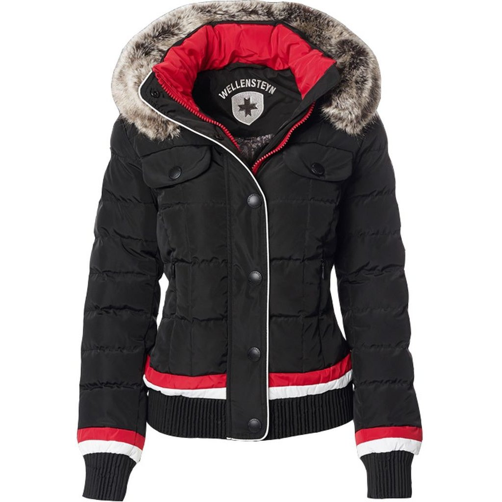 WELLENSTEYN Snowflake - trendová krátka dámska zimná bunda s vysokým golierom