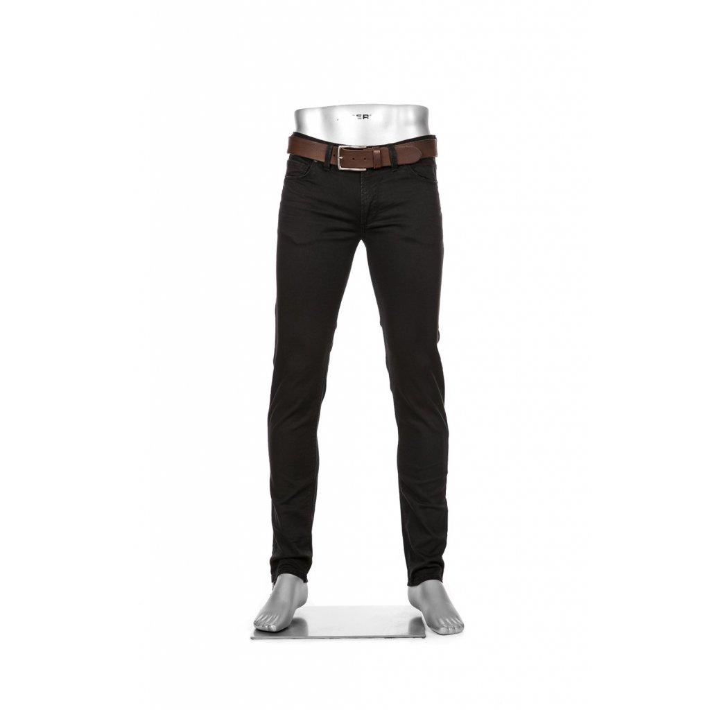 Moderné pánske čierne džínsy ALBERTO v super zoštíhlenom strihu