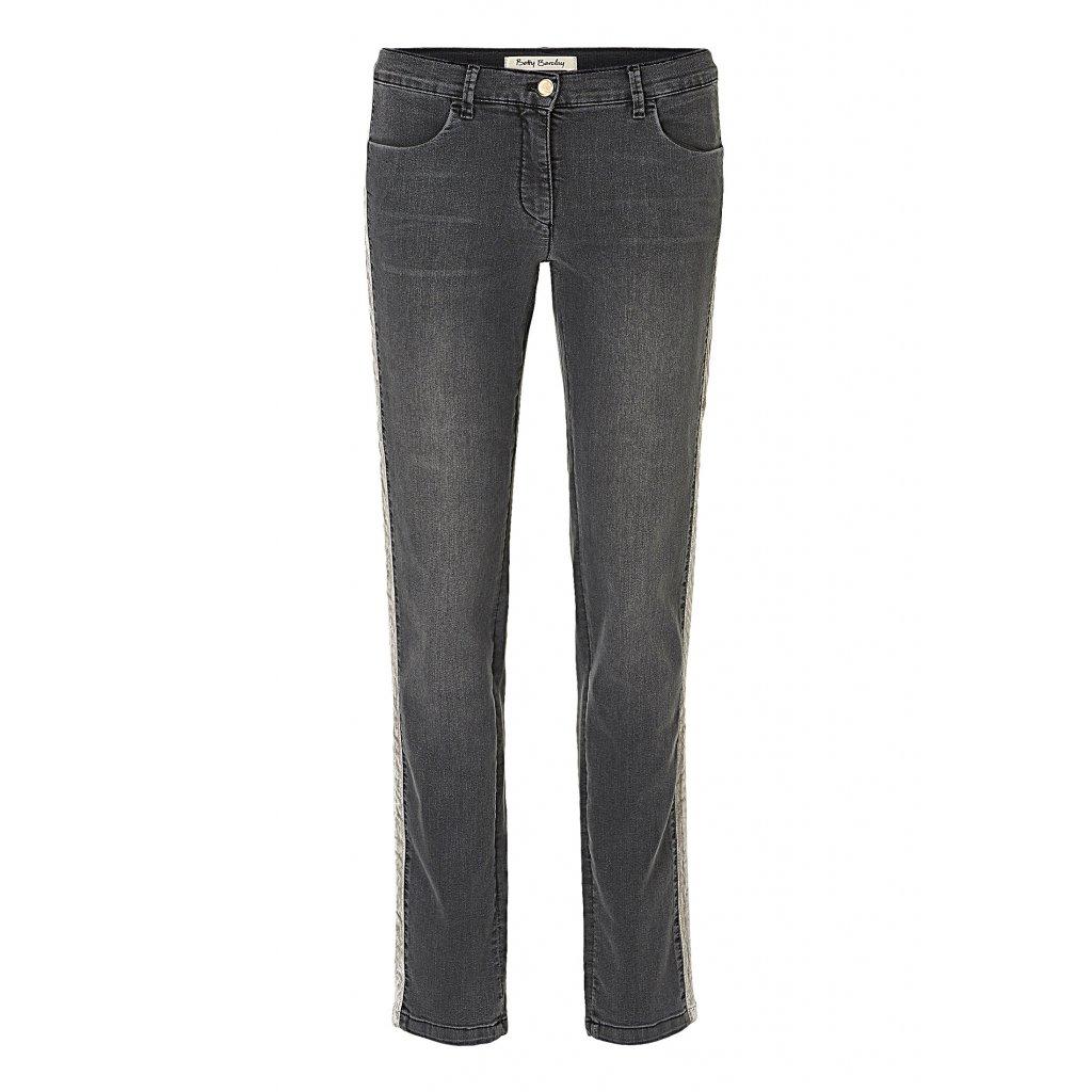 Štýlové dámske tmavosivé džínsy  BETTY BARCLAY v rovnom strihu
