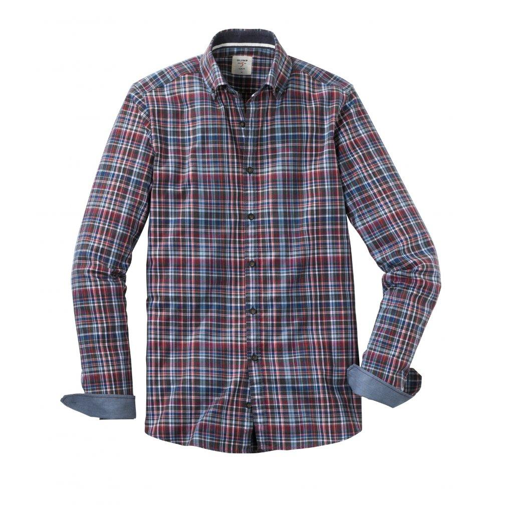 Fialová károvaná košeľa OLYMP